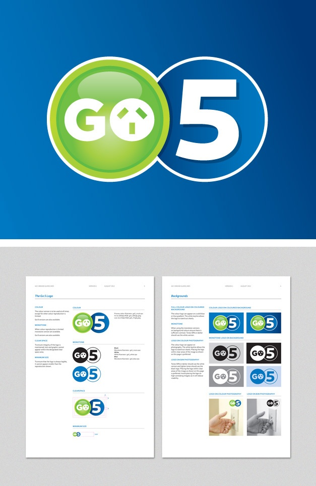 Branding and guidelines for Moreland Energy Foundation's Go 5 program. www.fenton.com.au #communication #PR #branding #graphicdesign