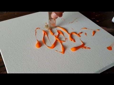 ORANGE / Demonstration of Abstract Painting / Easy in Acrylics / Project 36 …