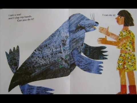 From head to toe by Eric Carle! We can also do the actions (TPR) while singing to learn some parts of the body and some animals.