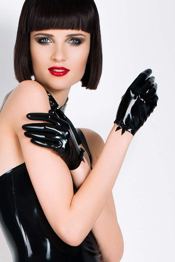 Black vinyl gloves long - Short Black Latex Gloves By Tres Bonjour Glove Love Pinterest Haute Couture Black Latex Gloves And Couture