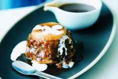 Apple, butterscotch and fig puddings main image