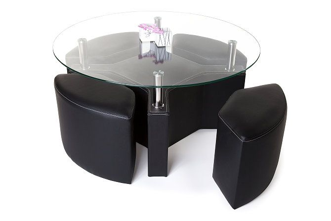 Peking Sofabord Runde - Glass | Trademax.no