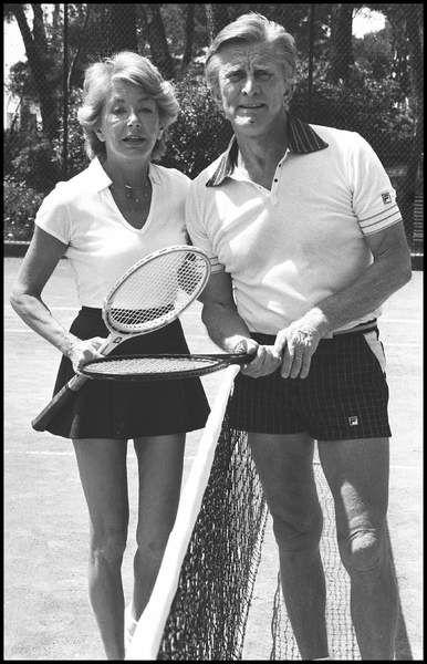 1980. Partie de tennis avec Anne.