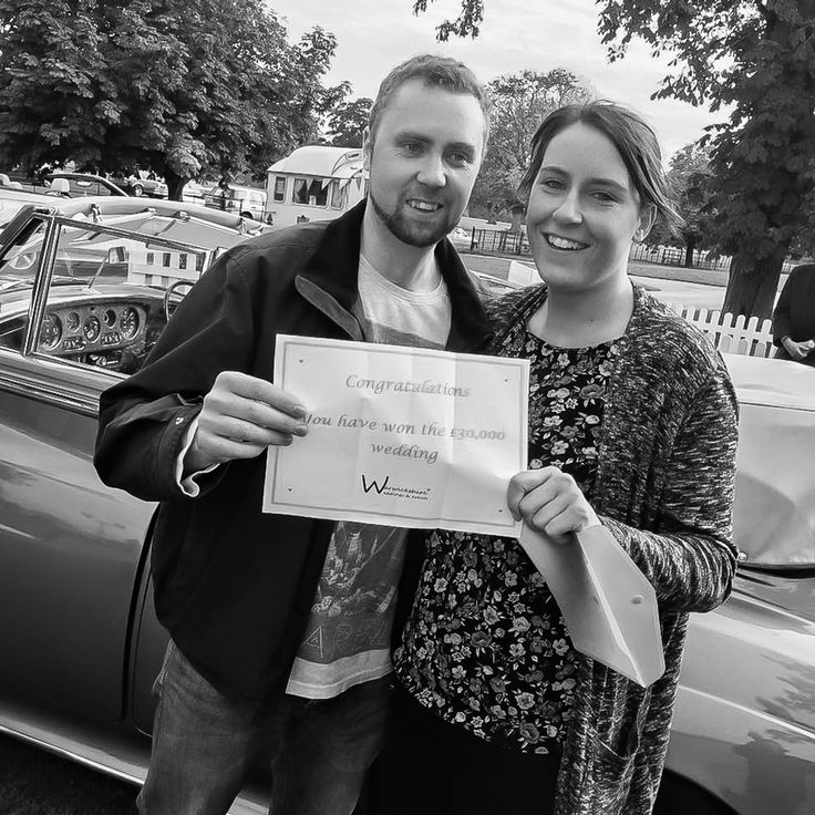 We've won a £30,000 wedding