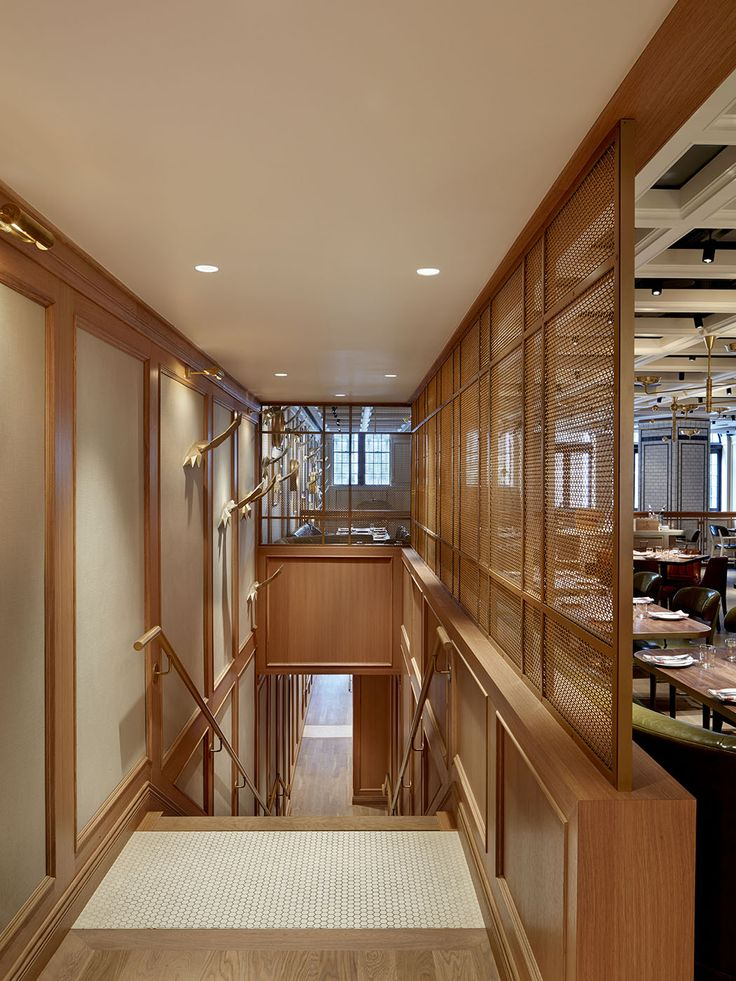Nightingale Restaurant in Vancouver B.C. Our 2 x 2 pattern using C220 and 304 stainless steel materials.