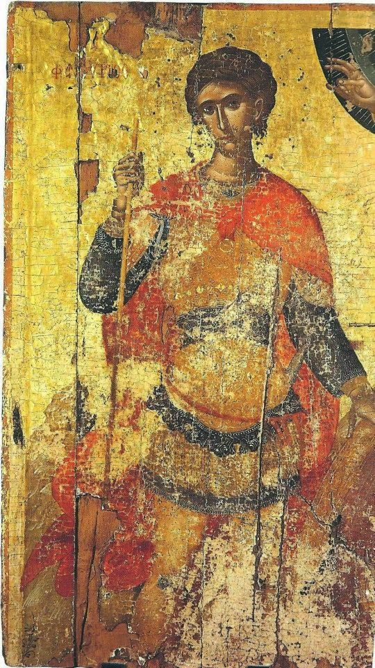 St Phanourios. 2nd quarter of the 15th c. Attributed to Angelos Akotandos. St Catherine of the Sinaites, Herakleio, Greece.