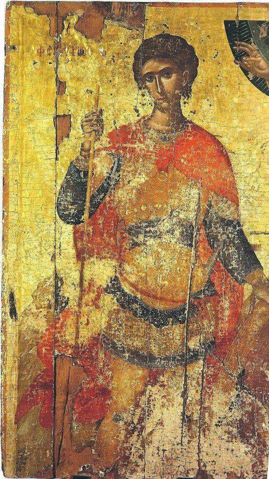 St Phanourios. 2nd quarter of the 15th c. Attributed to Angelos Akotandos. St Catherine of the Sinaites, Herakleio, Greece.