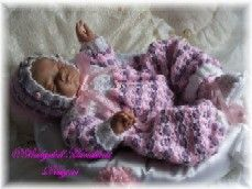 FREE Multi-coloured romper/all-in-one 16-24 inch doll/newborn/0-3m baby-romper, onsie, baby, doll