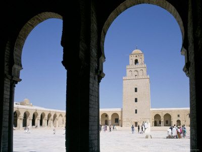The Grand Mosque, Kairouan, Unesco World Heritage Site, Tunisia, North Africa, Africa