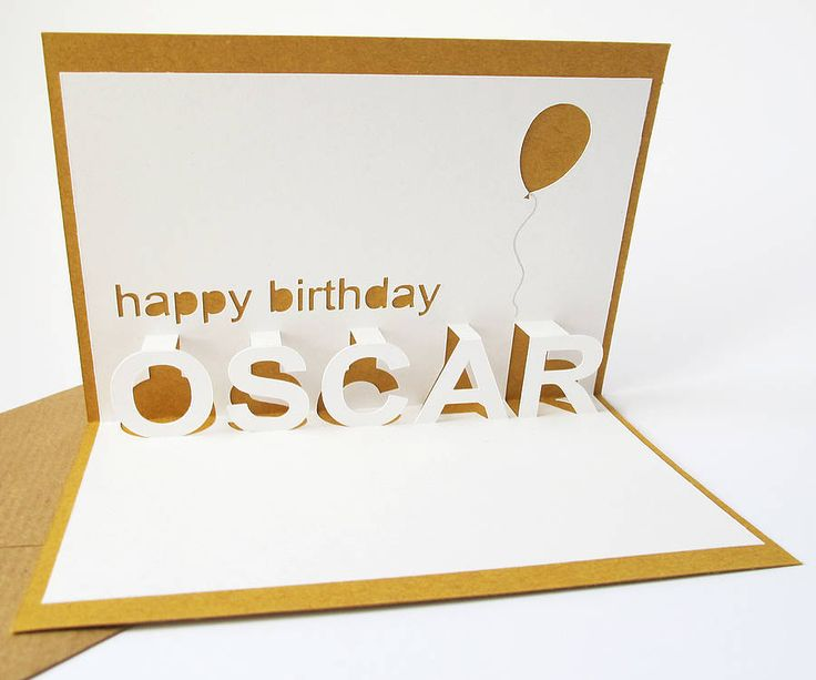personalised pop up card by little white dog | notonthehighstreet.