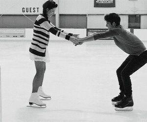 Definitely wanna go ice skating with but I feel like I'm gonna brake my ankles