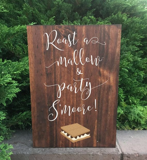 Rustic Wedding Sign  Smores Bar Wedding Sign by heartandhandshop