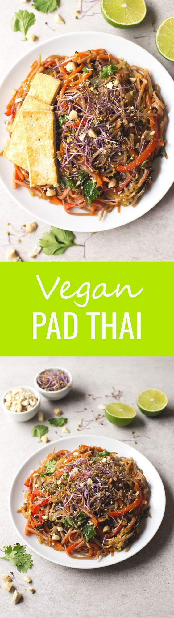 Vegan Pad Thai - I love this super healthy vegan Pad Thai recipe so much it's one of my favorite dishes at the moment!