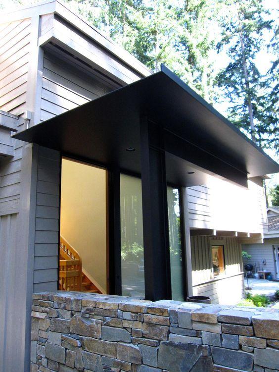 Steel Plate Canopy House Entrance In 2019 Steel