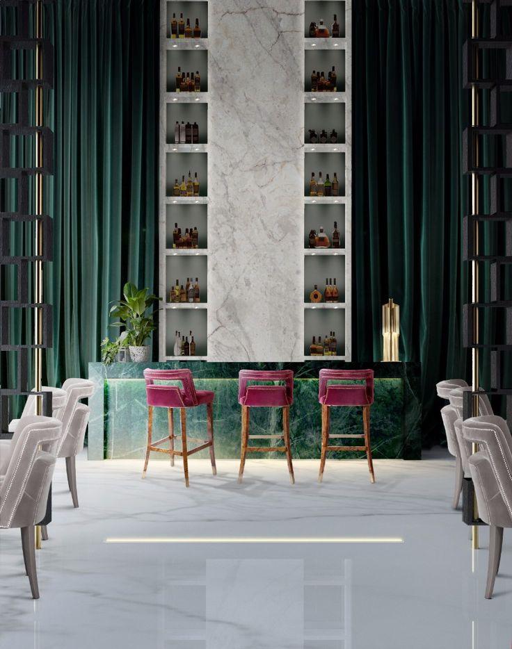 20 Must-Have Upholstered Bar Chairs That Make A Statement | Decorating Ideas | Interior Design | Modern Design | Upholstered Bar Chairs | #interiordesignprojects #homedecorideas | #modernbarchairs | more @ https://www.brabbu.com/en/inspiration-and-ideas/interior-design/must-have-upholstered-bar-chairs-make-statement