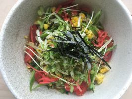 """Oakland, Calif.: Itani Ramen : In summer nothing could be cooler than a  <a adhocenable=""""false"""" href=""""/content/food/restaurants/ca/oakland/i/itani-ramen-restaurant.html"""">noodle salad version of ramen</a>. Japanese-American Chef Kyle Itani's ramen was inspired by Chinese chicken salad and hiyashi chuka somen, a popular summer dish of thin wheat noodles. The overall flavor of the dish is light and refreshing; Itani explains that the ingredients have complementary contrasting textures of chewy…"""