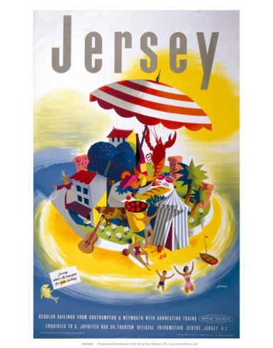 Vintage travel poster - Jersey, Channel Islands