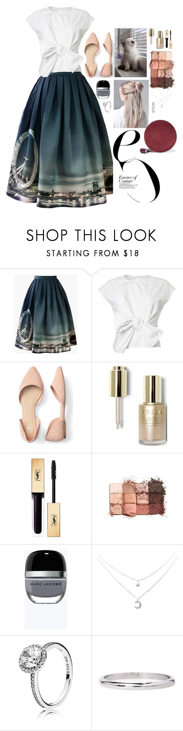 """Essence of couture"" by youngsmile ❤ liked on Polyvore featuring Chicwish, Stila, tarte, Marc Jacobs, Pandora and Diane Von Furstenberg"