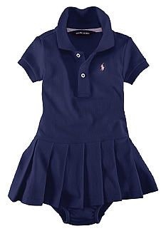 Ralph Lauren Childrenswear Infant Girl Stretch Mesh Polo Dress. Need this for my niece!