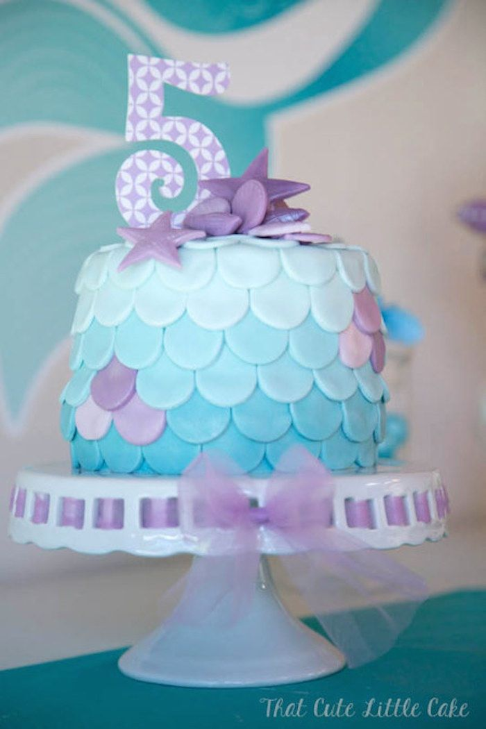 Pastel Mermaid themed birthday party