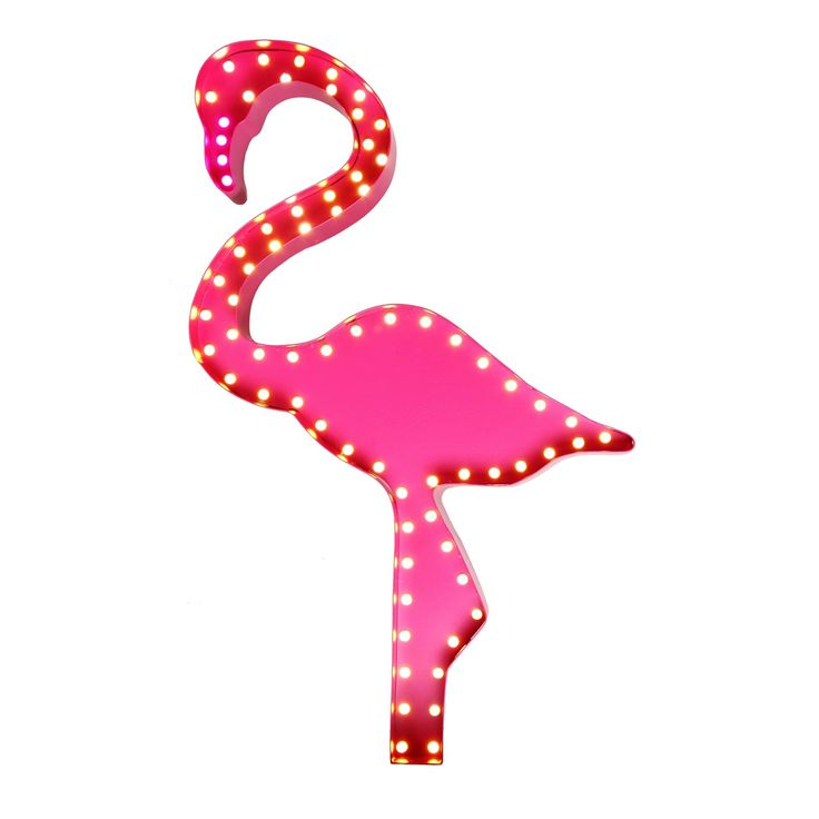 This marquee floor light is perfect for introducing a touch of character to the home. Featuring a quirky flamingo design, this colourful piece will bring a fairground-inspired feel to a room with its bright bulb covers and can be placed on either the wall, table or floor to create retro ambience in any interior space.
