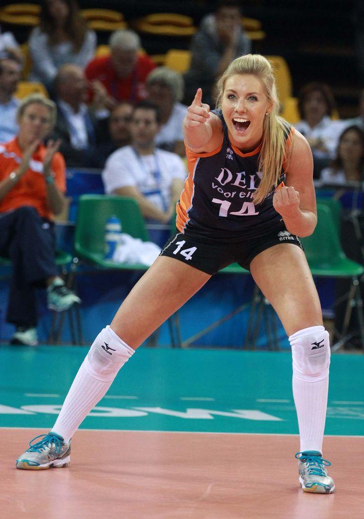 l'esultanza della numero 14 dell'Olanda Laura Dijkema