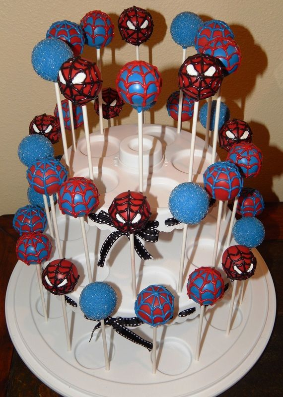 Spider-Man Cake Pops