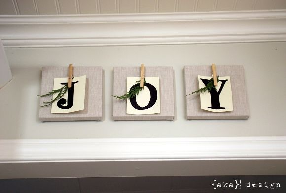 DIY craft - totally do-able: Covered Canvas, Canvas Wall, Burlap Canvas, Aka Design, Christmas Display, Burlap Joy, Christmas Canvas, Joy Canvas