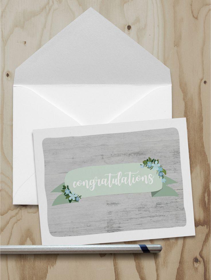Congratulations Note Card (A2)