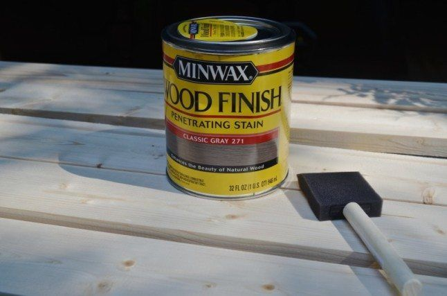 I like the stain color :: minwax gray