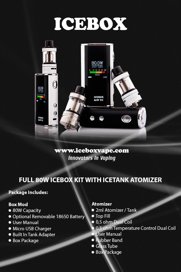 Best E Cigarette UK and Reliable vape products with quick Shipping.  Discounted prices for Icebox E Cig Kits, Mods, Atomizers and Accessories.