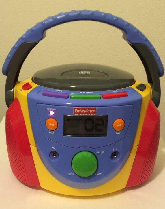 Vintage Fisher Price FP-945 Tuff Stuff Portable Stereo CD Player 2004 Model #FisherPrice