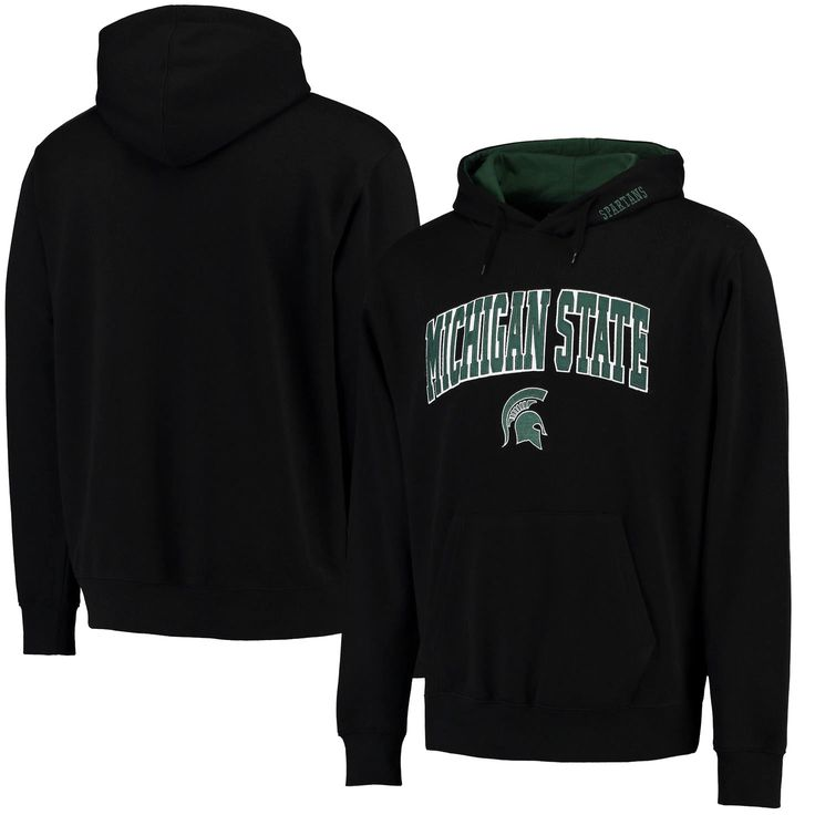 Michigan State Spartans Stadium Athletic Arch & Logo Pullover Hoodie - Black - $27.99