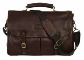 Barbour® briefcase leather