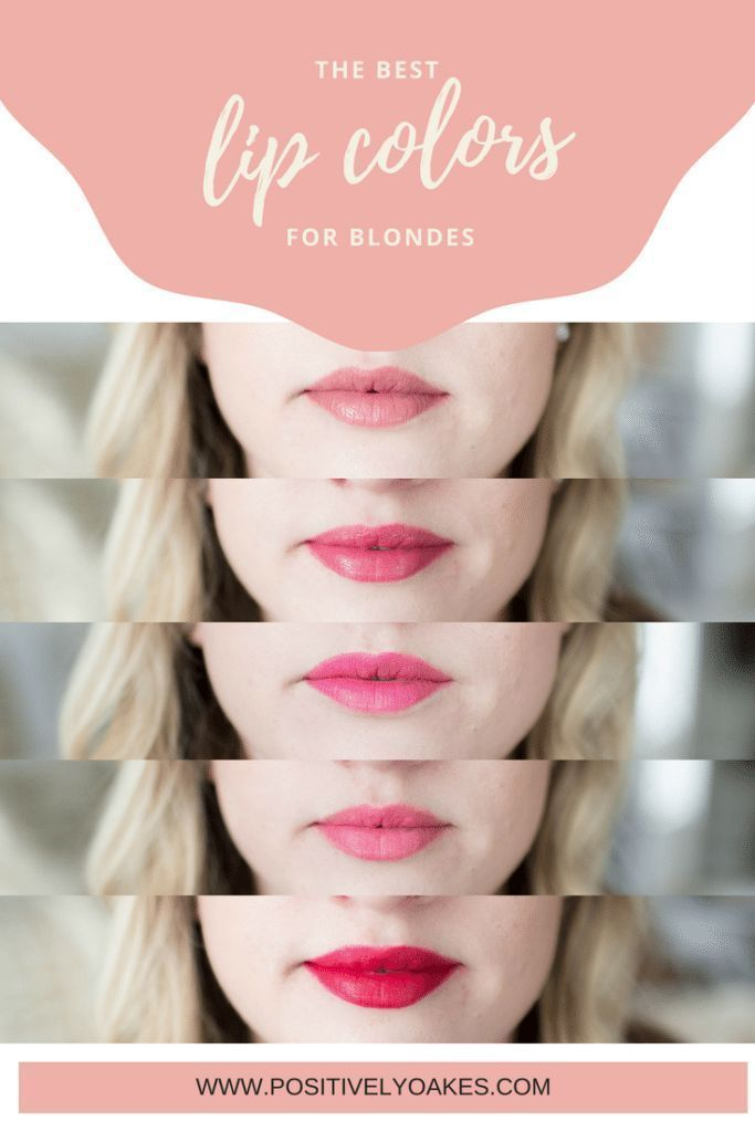 Beauty // Top Lip Colors for Blondes lipstick guide for blondes / best lip colors for blondes / best lipstick shades for light hair