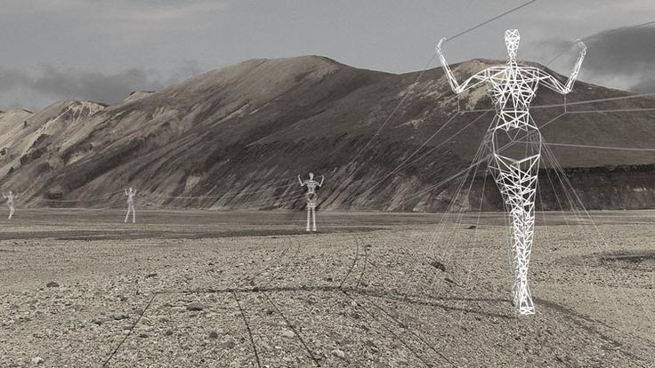 Choi + Shine Architects - The Land of Giants - Icelandic High-Voltage Electrical Pylon Competition - Honorable Mention