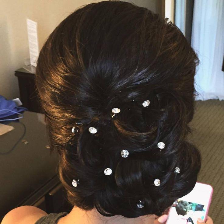 Just did hair for this lovely bride for her rehearsal dinner. #updo #sidebun #sidedo #elegantupdo #bridalhair #ocbridalhairmu #lisaleming