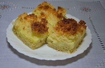Ciasto budyniowo – kokosowe
