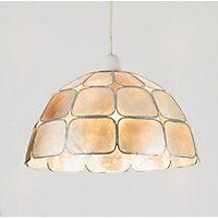 Capiz 26cm Dome Lamp Shade - Natural