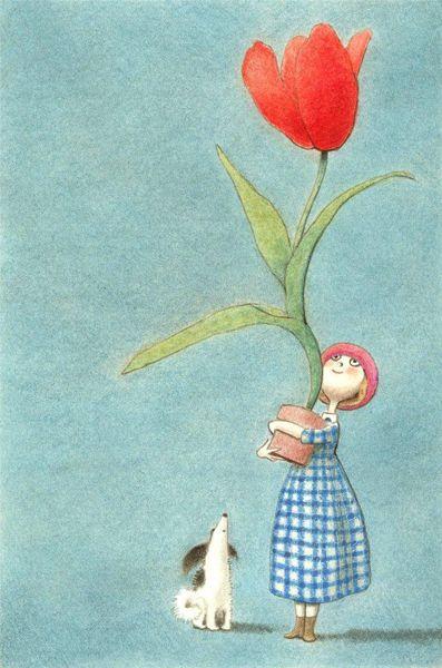 pequeña maceta, ilustración de KG Campbell