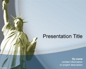 Liberty PowerPoint Template is a free PPT template with The Statue of Liberty in the presentation background and you can download this liberty PPT template for presentations in Microsoft Power Point about New York but also about liberty topics