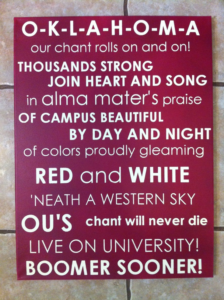 Oklahoma Sooners Fight Song