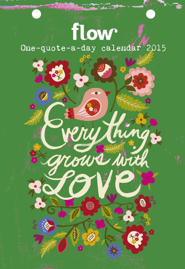 Op deze One-quote-a-day-kalender staat elke dag iets inspirerends. Een wijze quote ofeen inzicht van een schrijver, filosoof of denker. De citaten zijn geïllustreerd door verschillende internationele illustratoren en natuurlijk door mensen die vaker mooie dingen voor ons maken.
