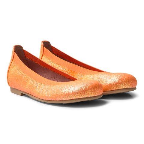 Pretty Ballerinas Orange Neon Slip On Hannah Pumps