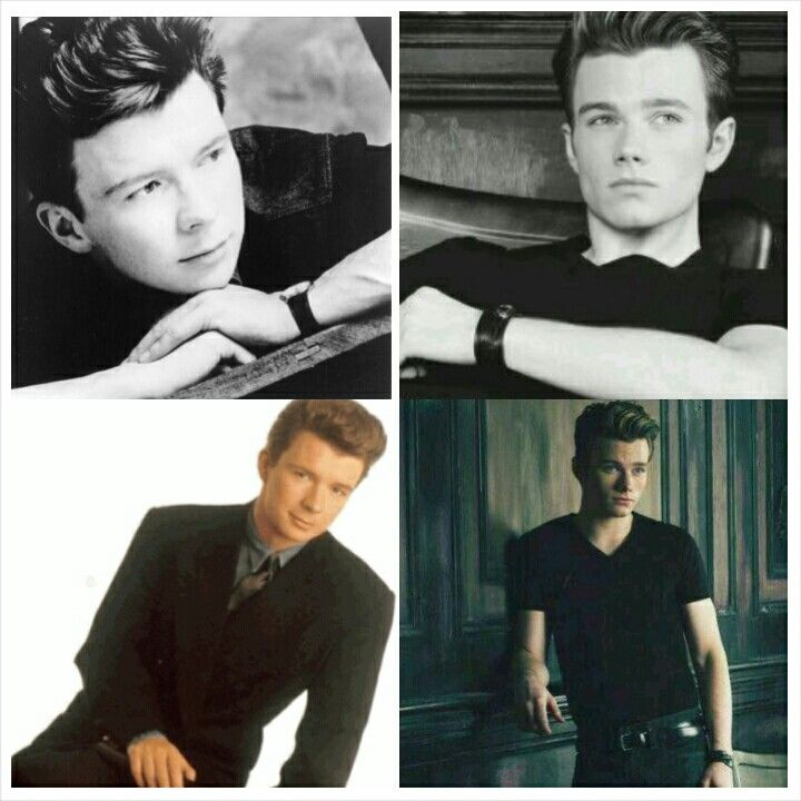 Chris Colfer totally looks like young Rick Astley. #reincarnation