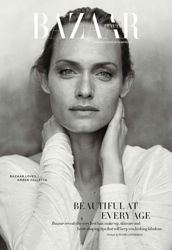 Harper's Bazaar Beauty UK April 2014 | Amber Valetta byr Peter Lindbergh ~ www.thefrenchbeautyacademy.edu.au