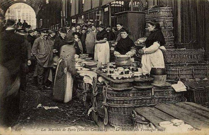 marché aux fromages mous, vers 1900