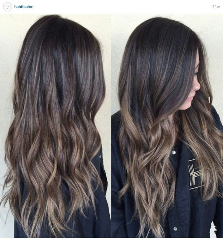 Image Result For Light Brown Balayage On Dark Hair In 2019