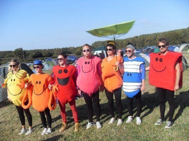 Mr Men costumes at Bestival festival