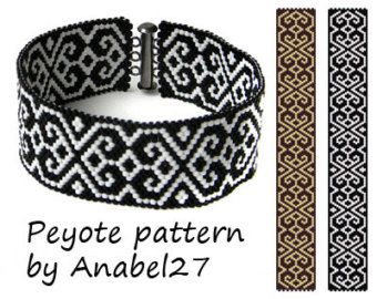 Pattern made with size 11/0 Miyuki Delica seed beads Approx width: 1 (19columns) Approx length: 6.91 (102 rows) Technique: Odd Count Peyote